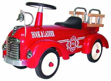 ride on metal fire engine